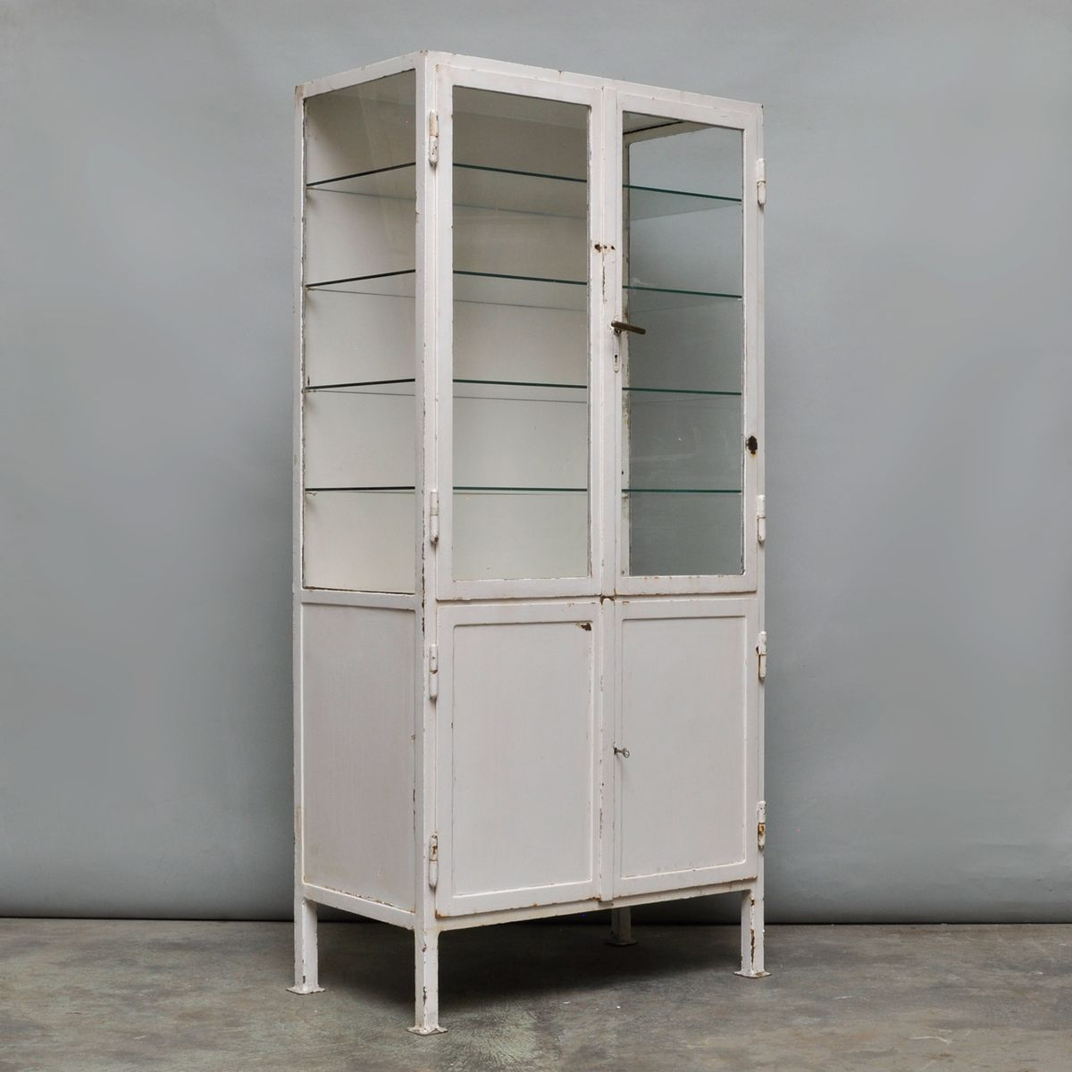 Steel Cabinet For Sale Vintage Industrial Steel And Glass Cabinet 1930s For Sale