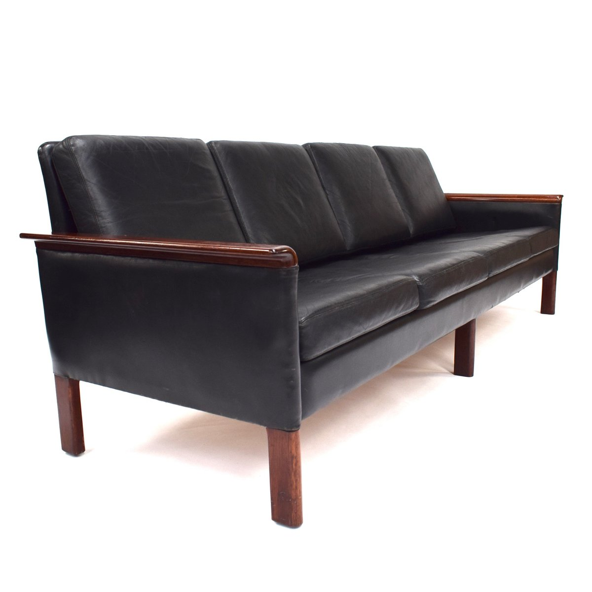 Scandinavian Sofas For Sale Scandinavian Black Leather Sofa 1950s For Sale At Pamono