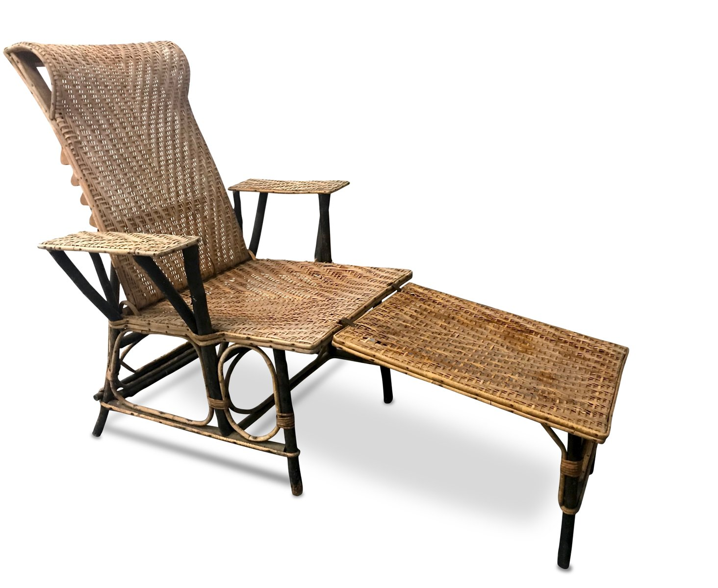 Best Daybeds Canada Vintage French Wicker & Bamboo Chaise Lounge For Sale At