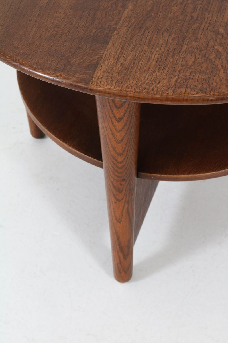 Art Deco Dutch Oak Coffee Table for sale at Pamono