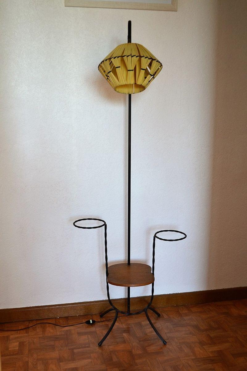Lamp Plant French Floor Lamp With Plant Pot Holders 1950s
