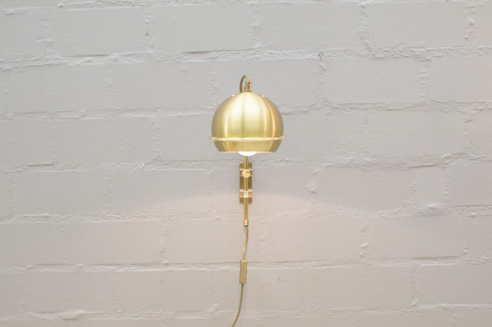 Lighting Lampen Brass Arch Wall Lamps By Gepo Lampen Amsterdam 1960s Set Of 2