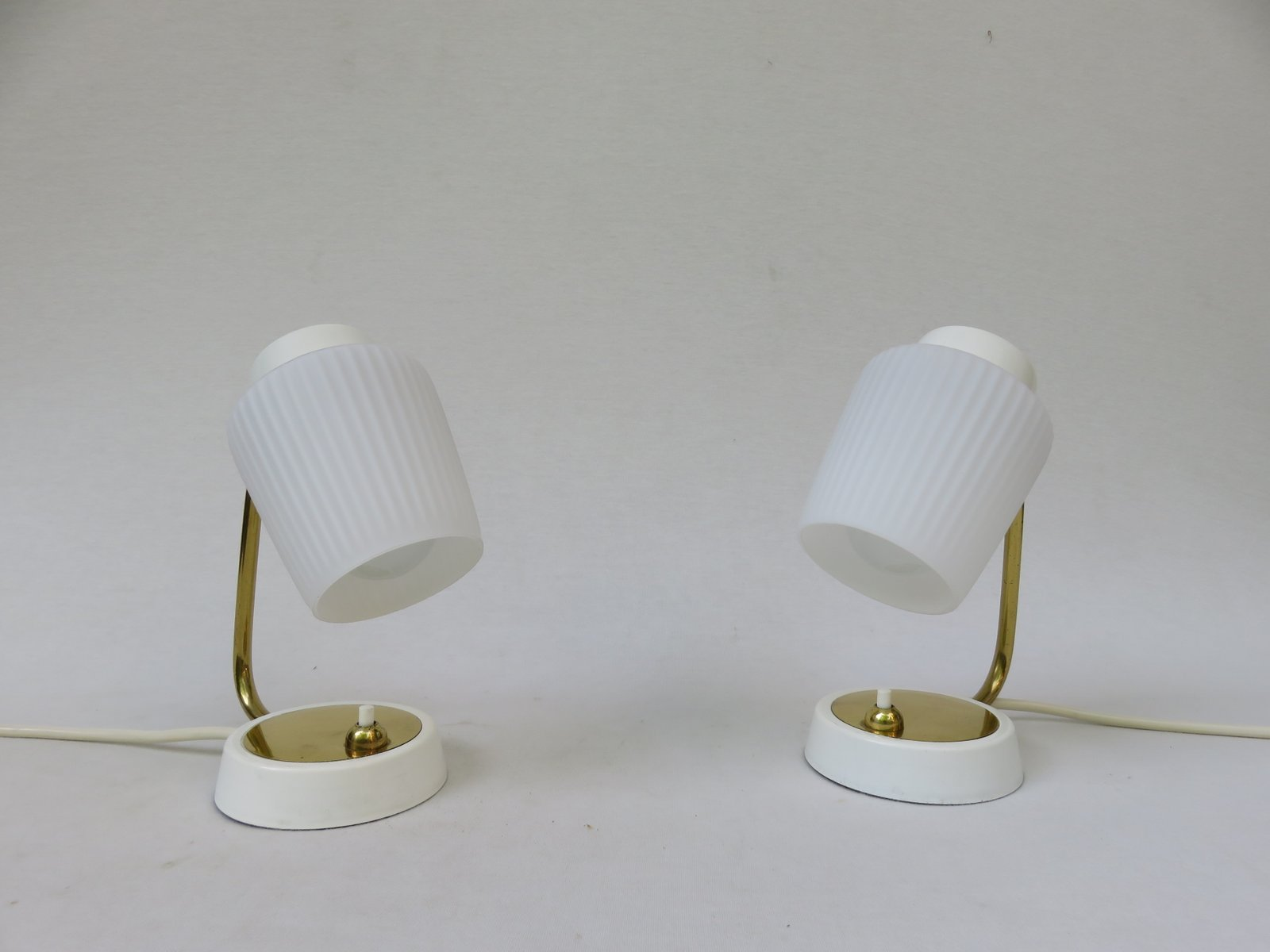 Brass Touch Lamps Bedside Brass Bedside Lamps 1950s Set Of 2 For Sale At Pamono
