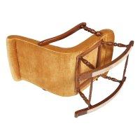Mid-Century Italian Rocking Chair in Walnut & Velvet ...