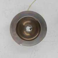 French Aluminum Table Lamp, 1970s for sale at Pamono