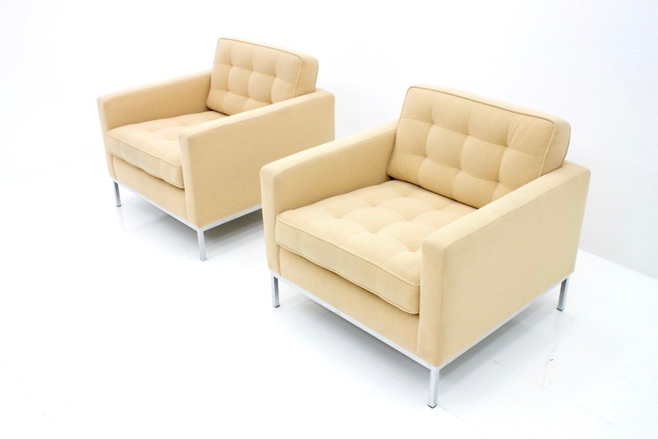Knoll International Sessel Sessel Von Florence Knoll Für Knoll International 1960er 2er Set