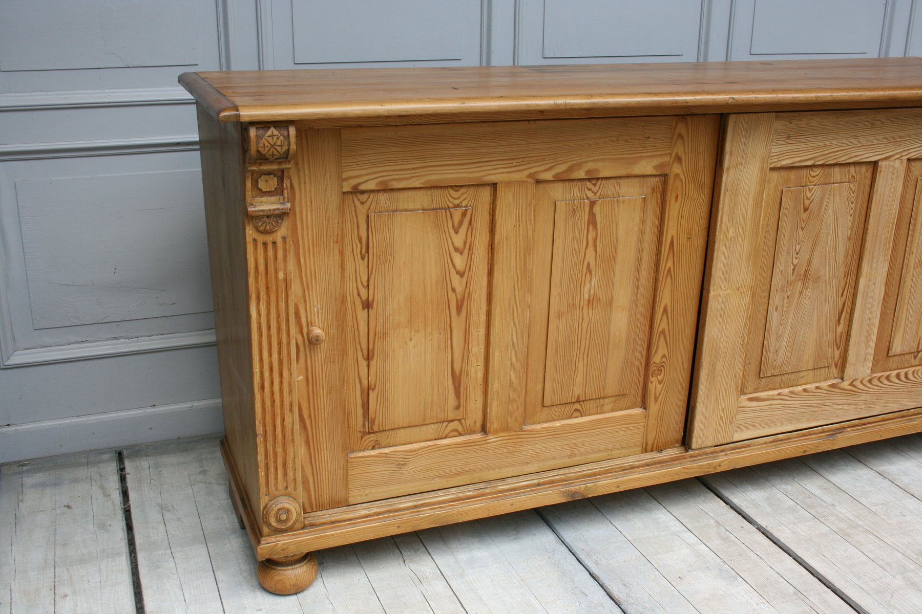 Vintage Sideboard Sliding Doors Antique Wilhelminian Sideboard With Sliding Doors For Sale