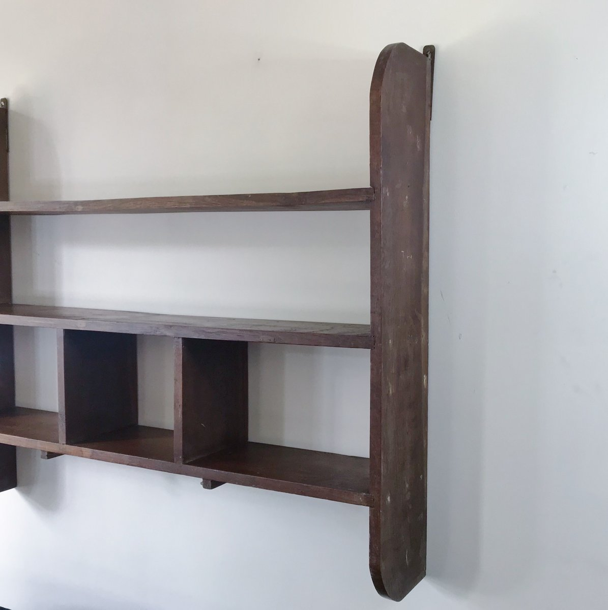 Wall Unit Wooden Constructivist Solid Wooden Wall Unit 1950s For Sale At
