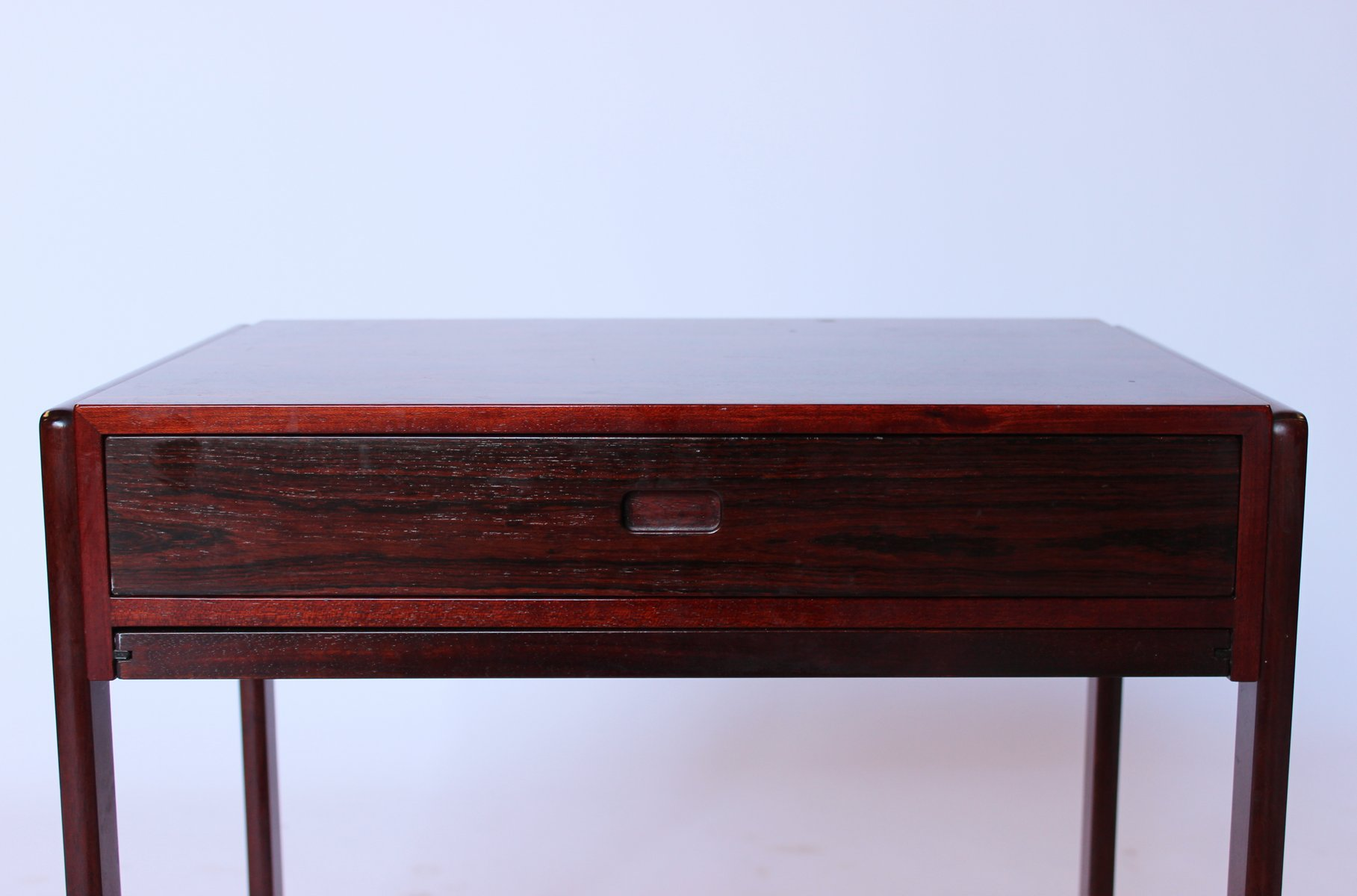 Small Work Table In Rosewood With Wheels From Gelsted 1960s For Sale At Pamono