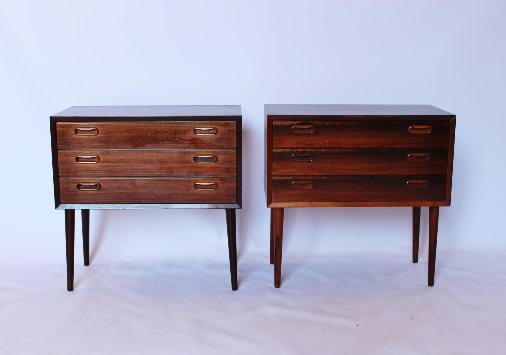 Danish Bedside Table Danish Bedside Tables In Rosewood 1960s Set Of 2 For