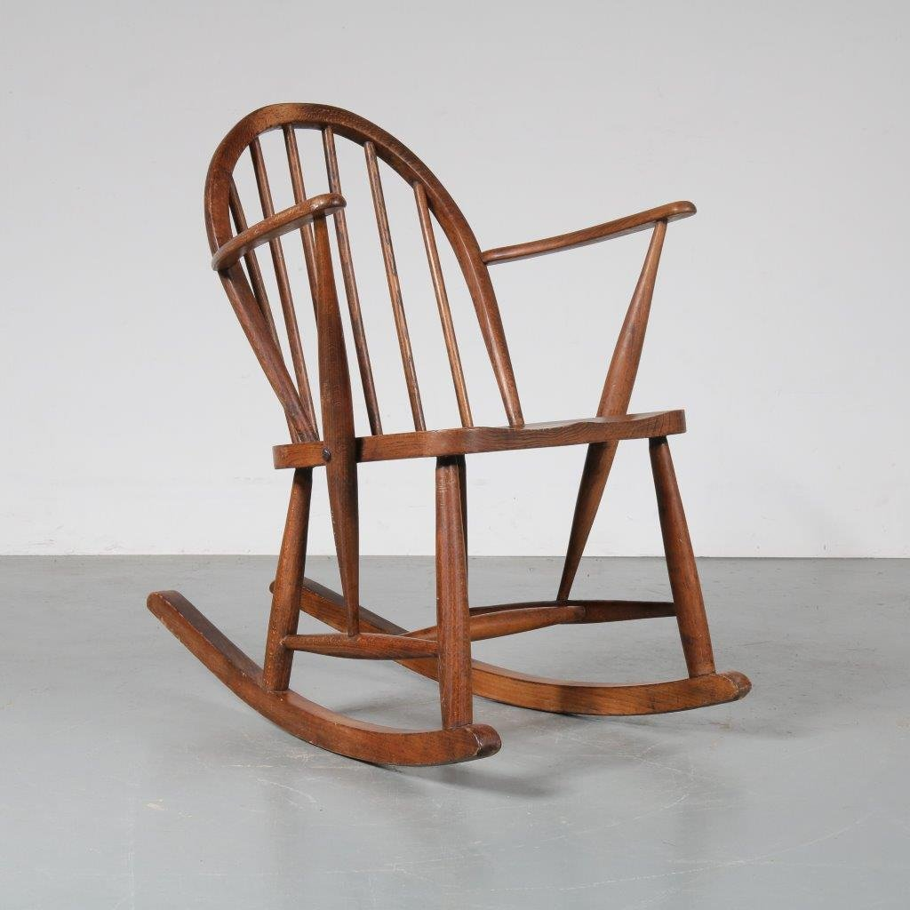 Swedish Rocking Chair Scandinavian Oak Rocking Chair 1940s For Sale At Pamono