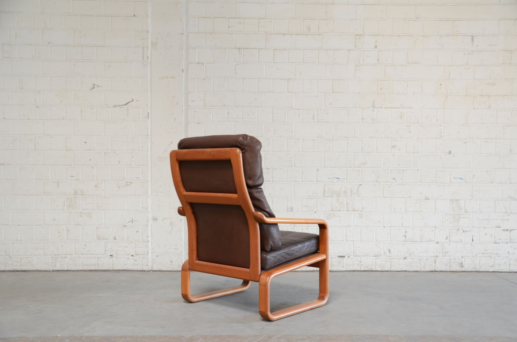 Vintage Teak Leather Lounge Chair From Holstebro For