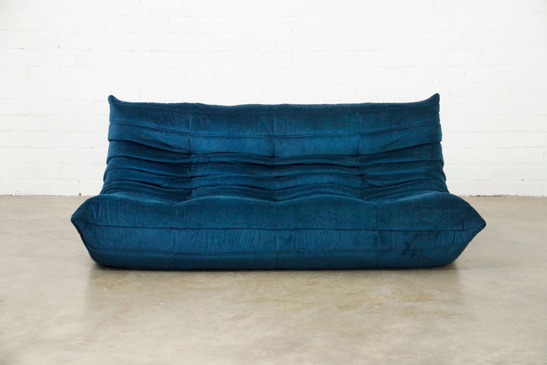 Big Sofa Petrol Togo Sofa In Petrol Blue By Michel Ducaroy For Ligne Roset 1970s
