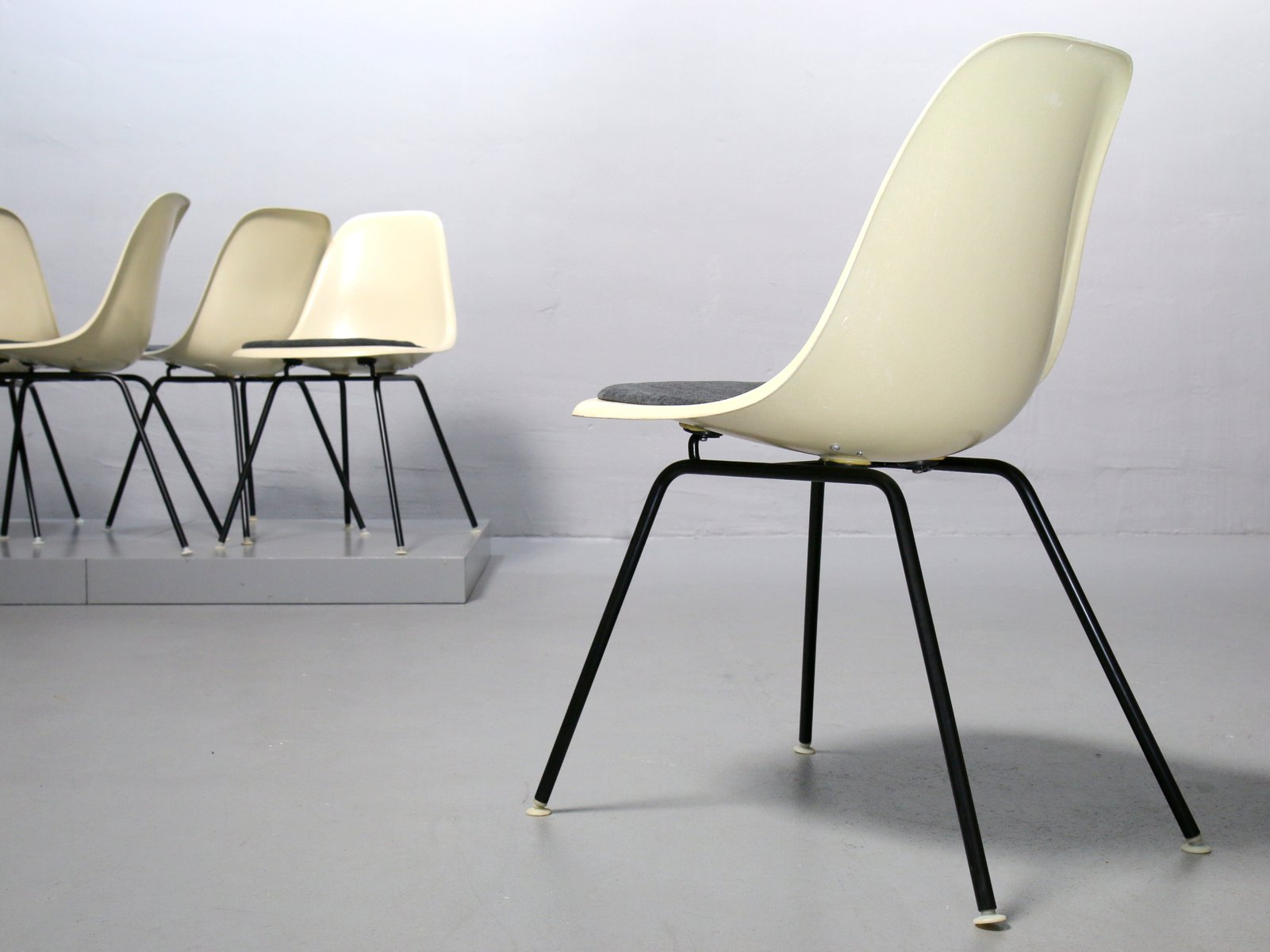 Vitra Eames Side Chair Vintage Fiberglass Side Chair By Charles Ray Eames For Vitra