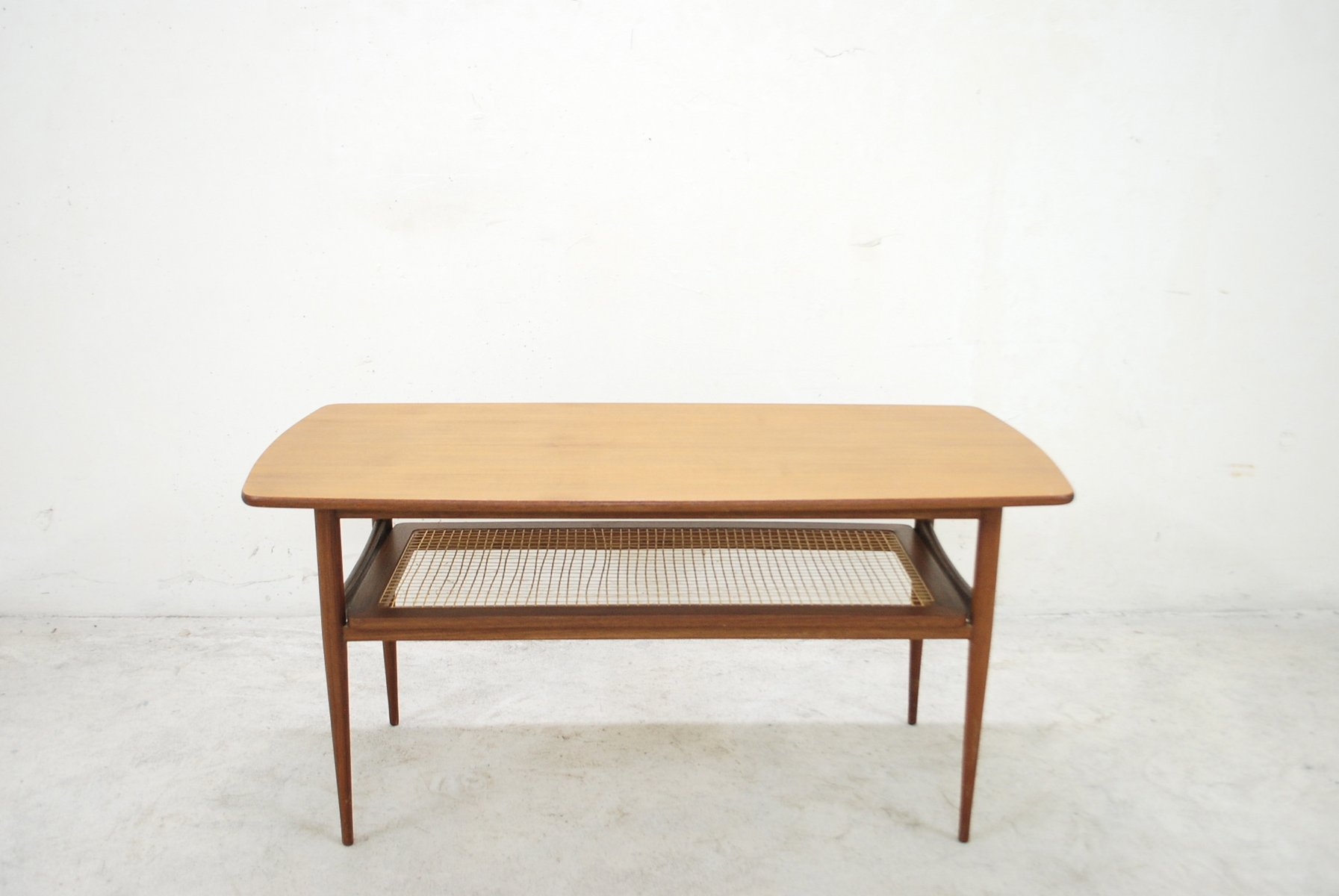 Sculptural Coffee Tables Danish Modern Sculptural Teak And Cane Coffee Table For Sale