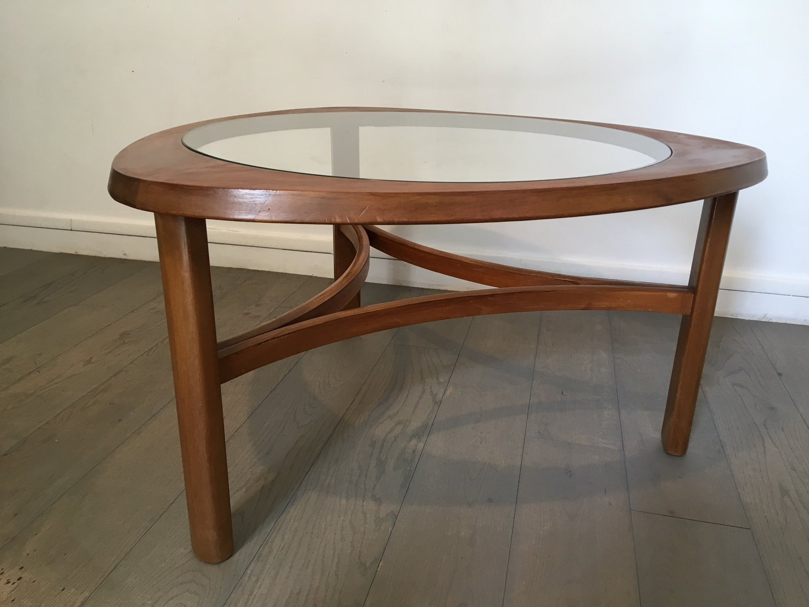 Couchtisch Marvel Scandinavian Teak And Glass Coffee Table 1950s For Sale At