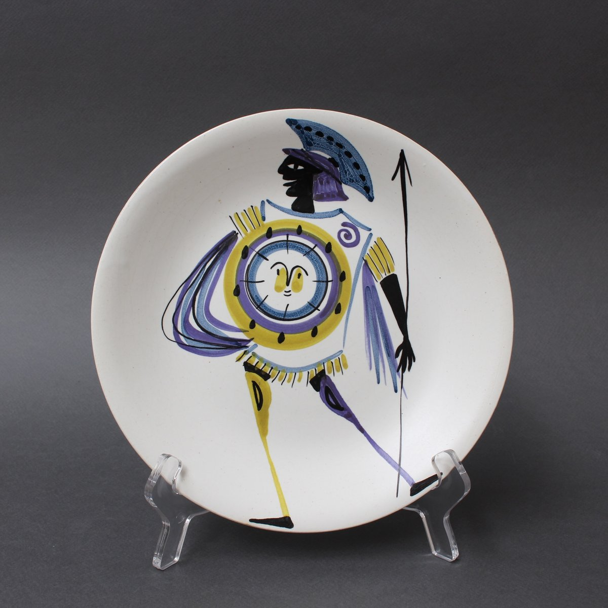 Decorative Plates by Roger Capron, 1950s, Set of 4 for