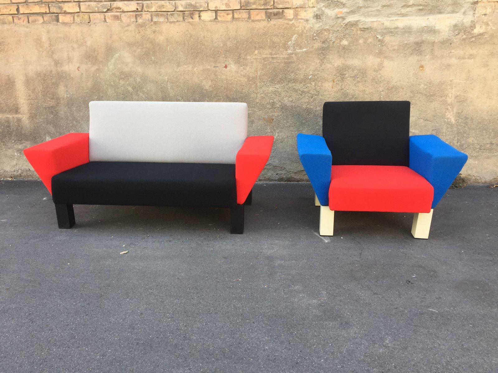 Knoll International Diamond Großer Sessel Sofa And Sessel Von Ettore Sottsass Für Knoll International