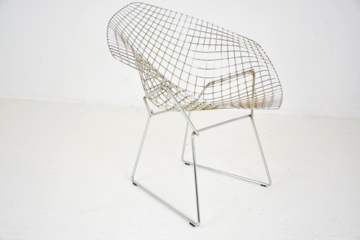 Diamond Sessel Diamond Sessel Von Harry Bertoia Für Knoll Inc 1970er