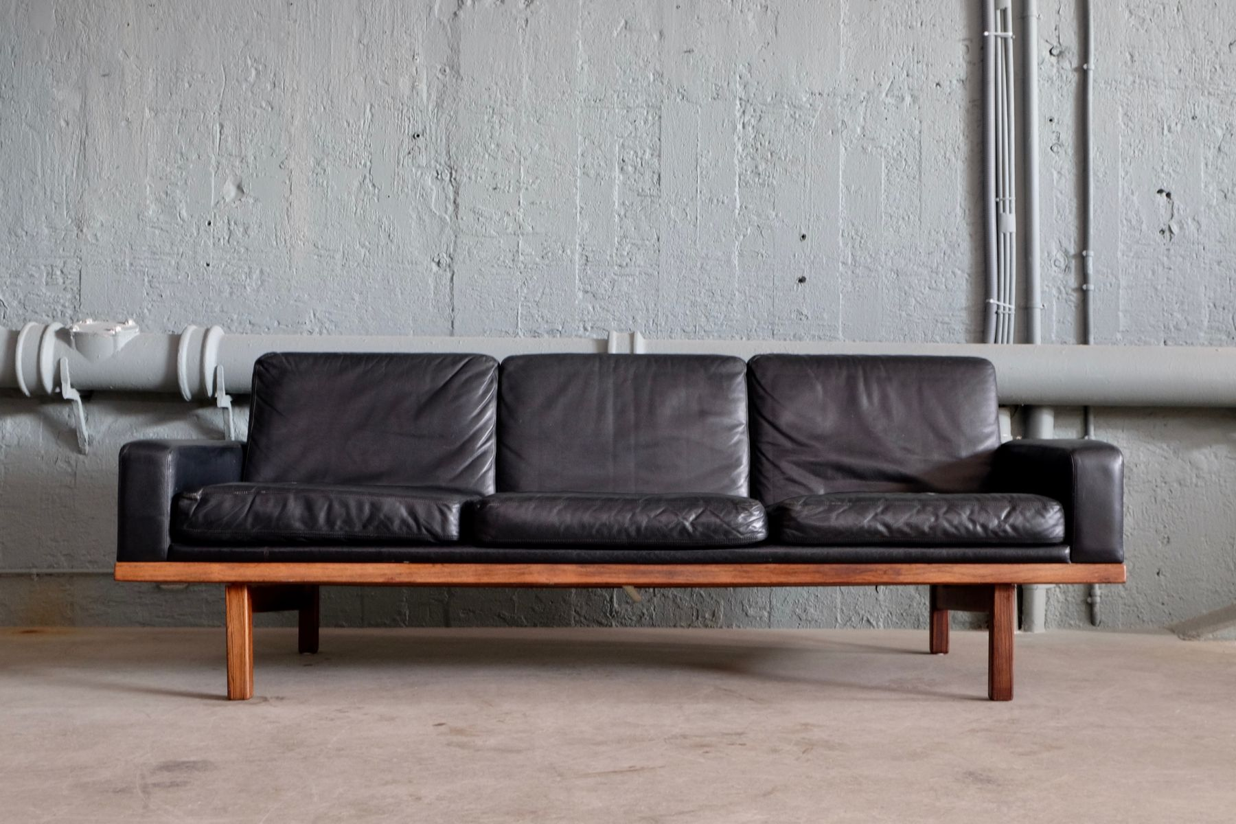 Møbler Sofa Tornado Leather Sofa By Eric Merthen For Ire Möbler 1950s