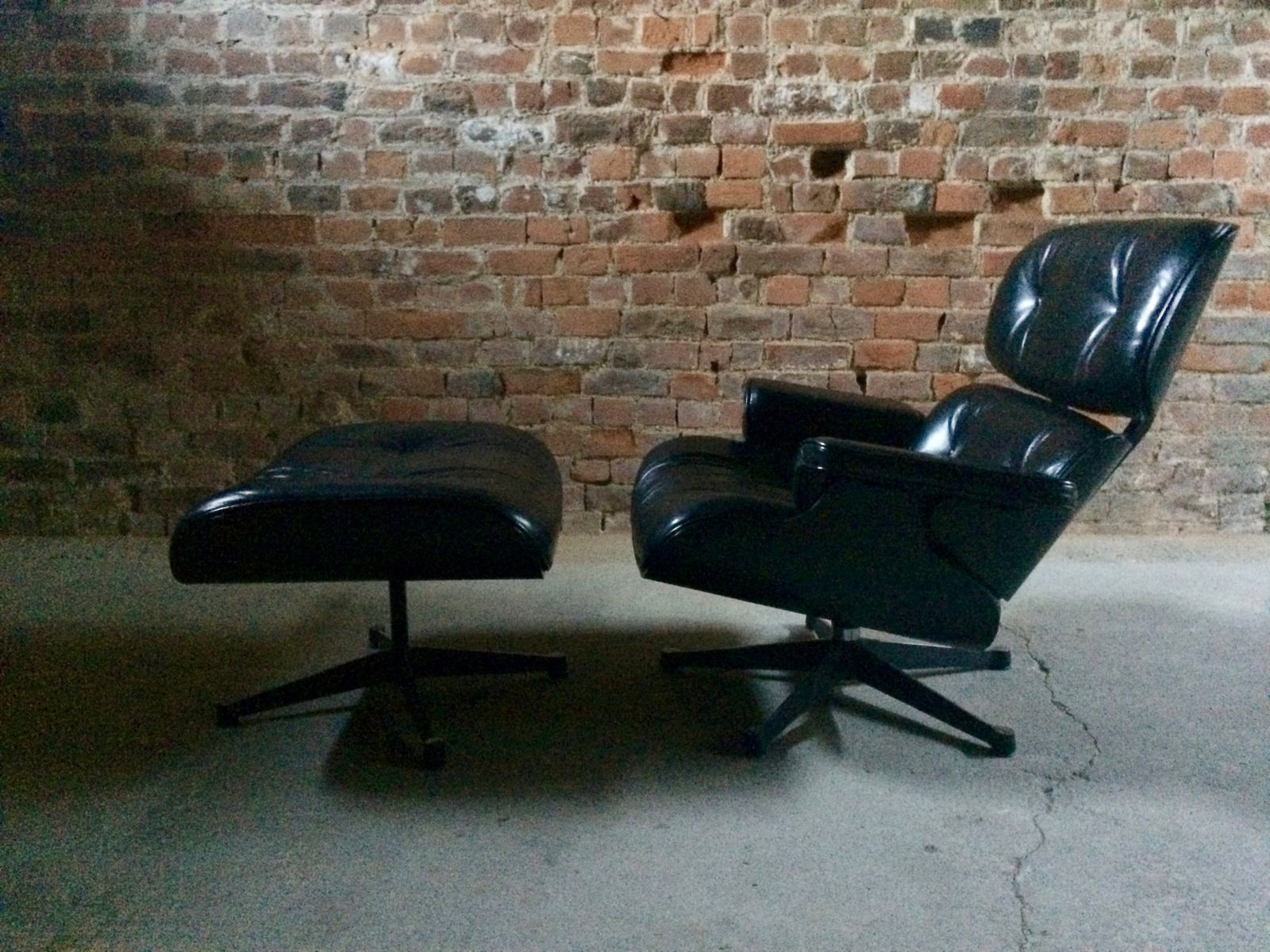 Vitra Eames Lounge Chair Black Black Ash Leather Model 670 Lounge Chair Model 671 Ottoman By Charles Ray Eames For Vitra 2008