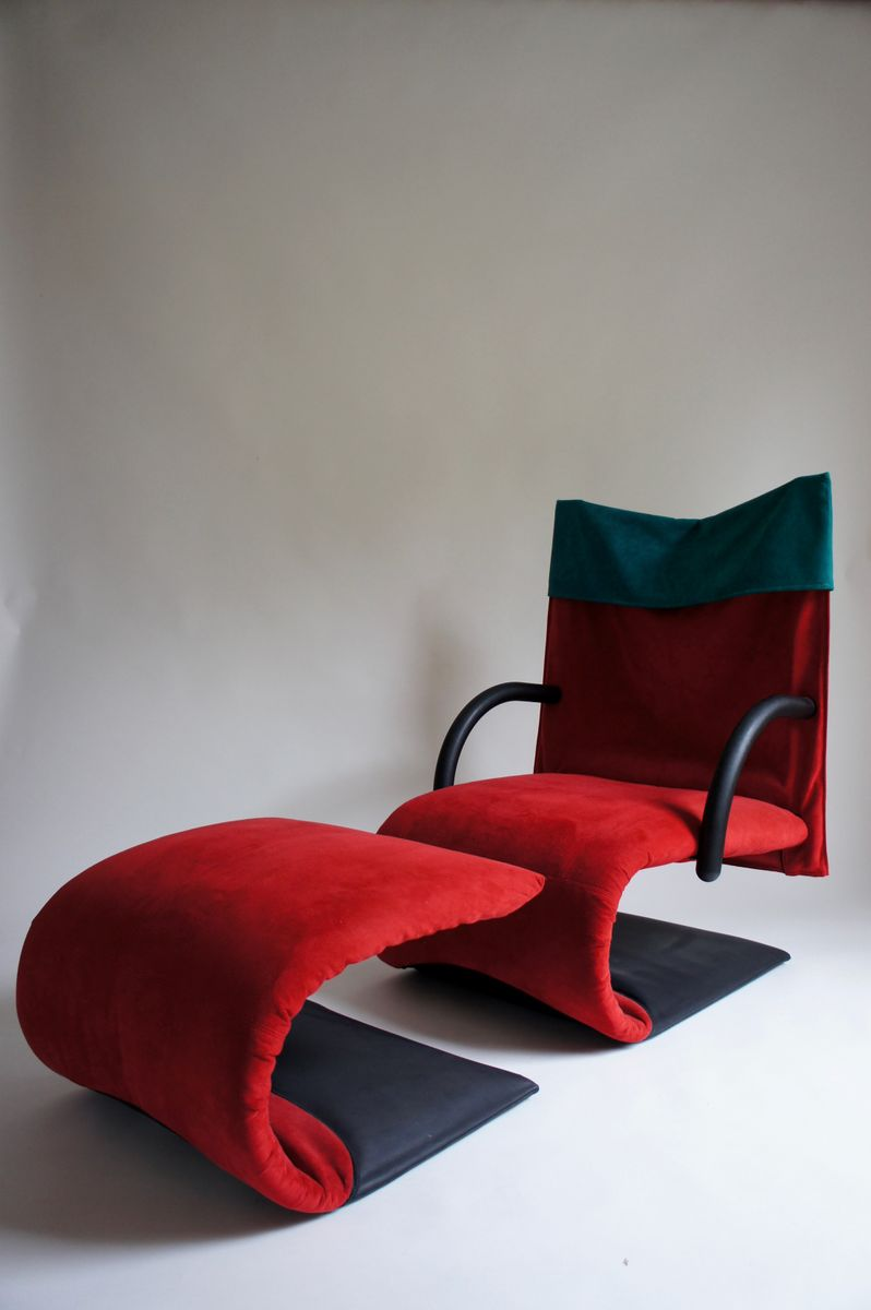 Sessel Ligne Roset Zen Lounge Chair And Footstool By Claude Brisson For Ligne Roset 1980s