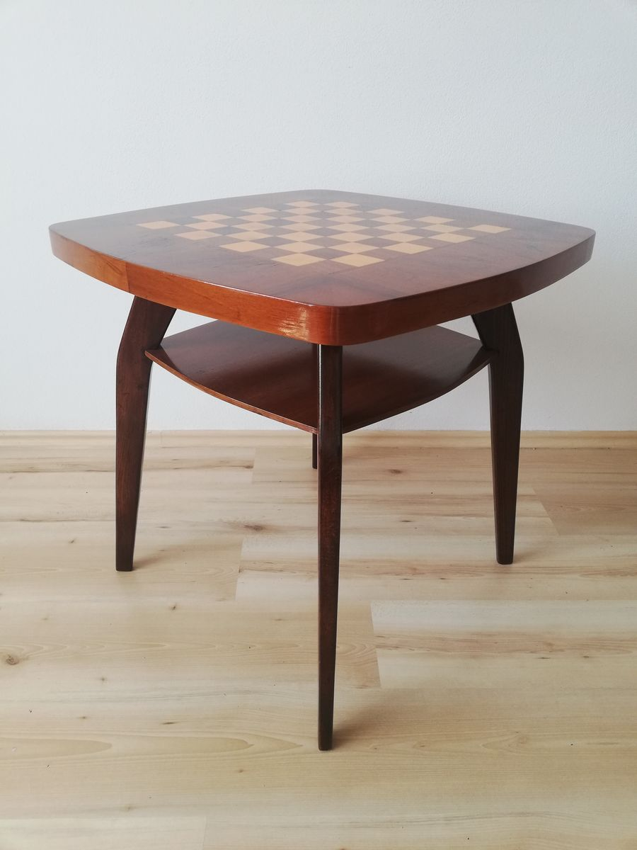 Chess Table Mid Century Crab Chess Table By Jindrich Halabala 1950s