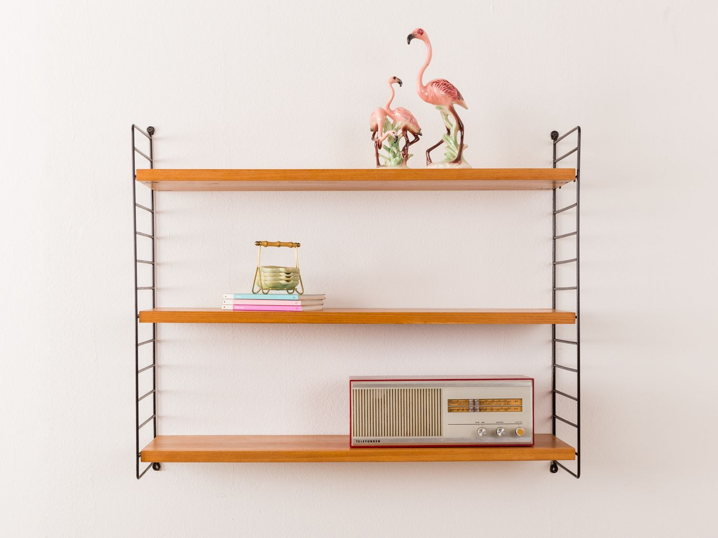 String Regal Vitrine Wall Shelf By Kajsa Nils Nisse Strinning For String 1960s
