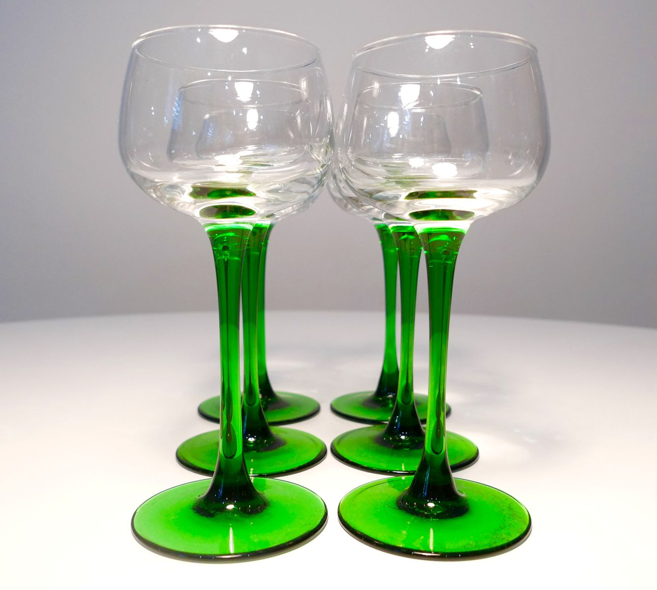 Luminarc Glass Vintage French Wine Glasses From Luminarc 1970s Set Of 6
