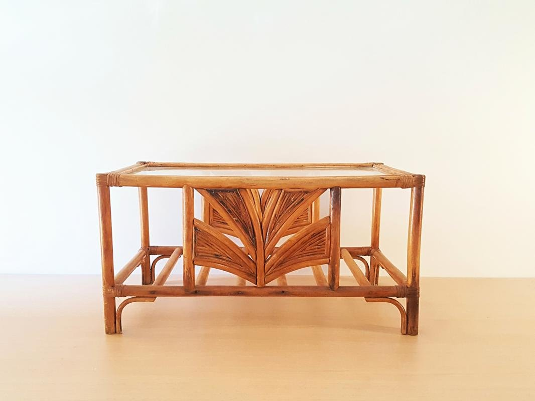 Couchtisch Bamboo Bamboo And Glass Coffee Table 1970s