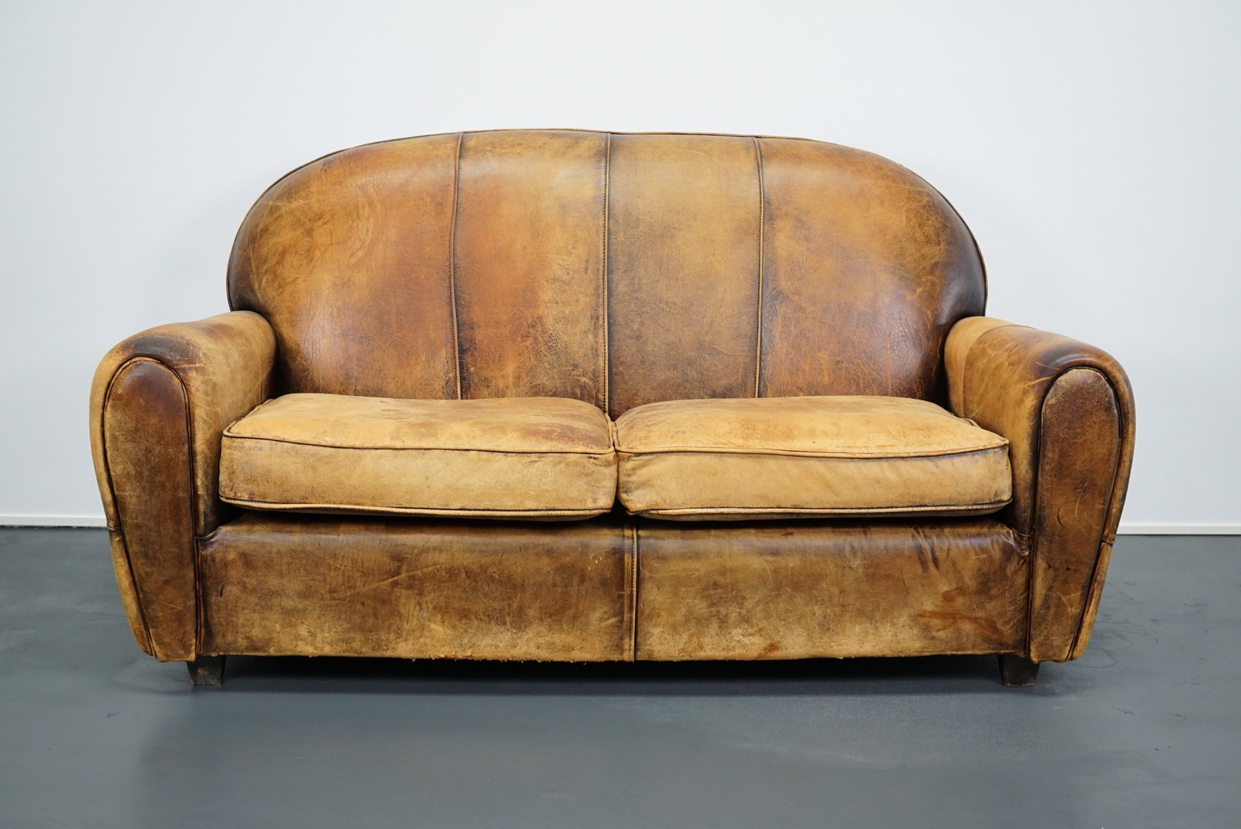 Vintage Ledersofa Vintage Dutch Cognac Leather 2 Seater Sofa