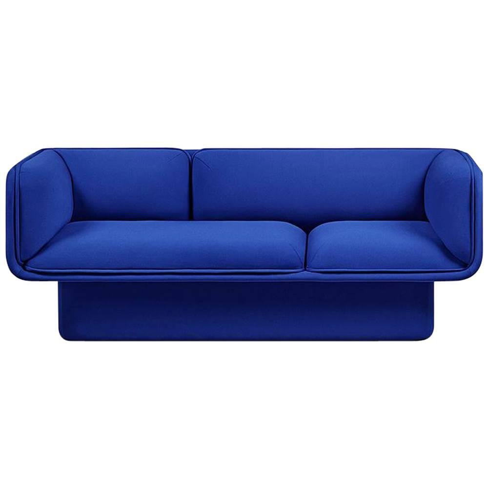Antike Sofas Contemporary Blue Block Sofa By Studio Mut