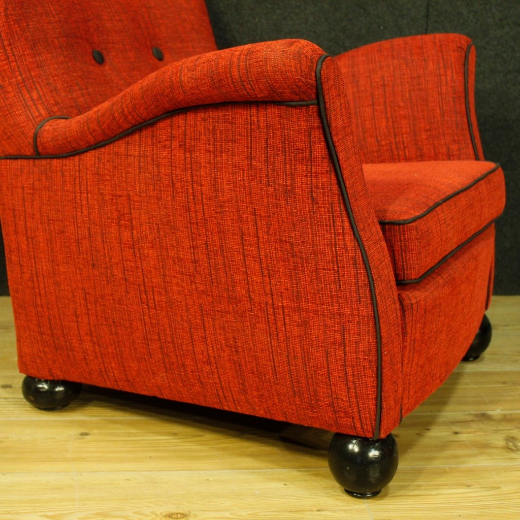 Fabric Armchairs Red Fabric Armchairs From Fede Cheti 1950 Set Of 2 For