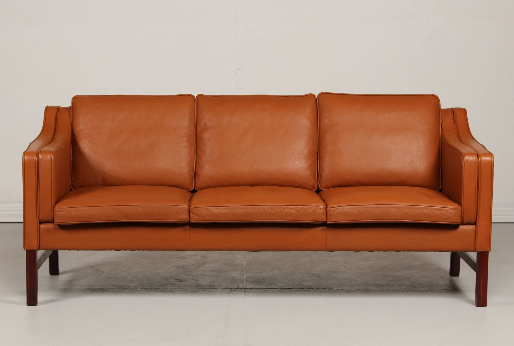 Sofa Dreams France Danish Three Seater Sofa In Cognac Leather From Skipper