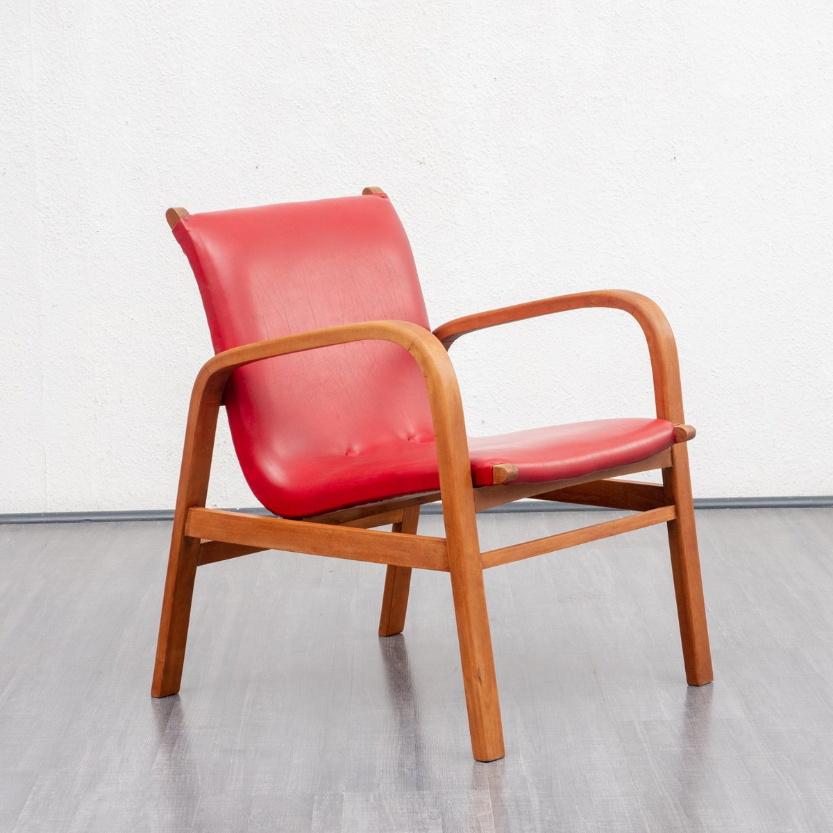 Roter Retro Sessel Roter Sessel 1950er Bei Pamono Kaufen