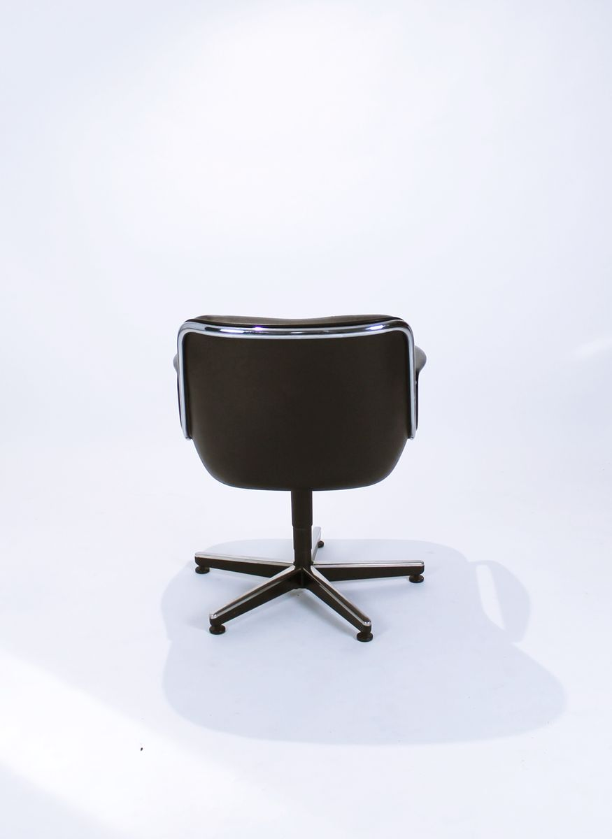 Fauteuils Pivotants Fauteuils Pivotants Executive Par Charles Pollock Pour Knoll International 1970s