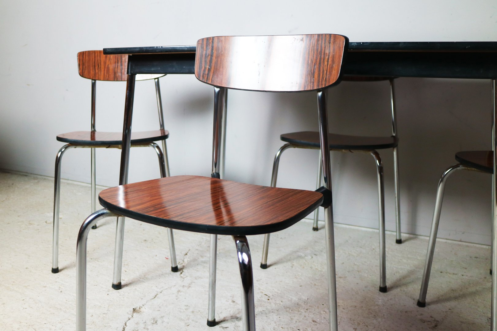 Vintage Formica Small Dining Table And 4 Chairs 1960s For