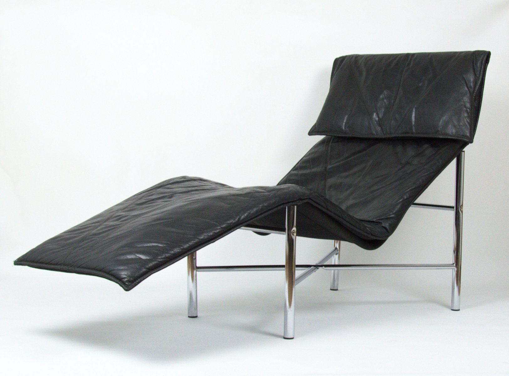 Vintage Ikea Lounge Chair Vintage Black Leather Lounge Chair By Tord Björklund For