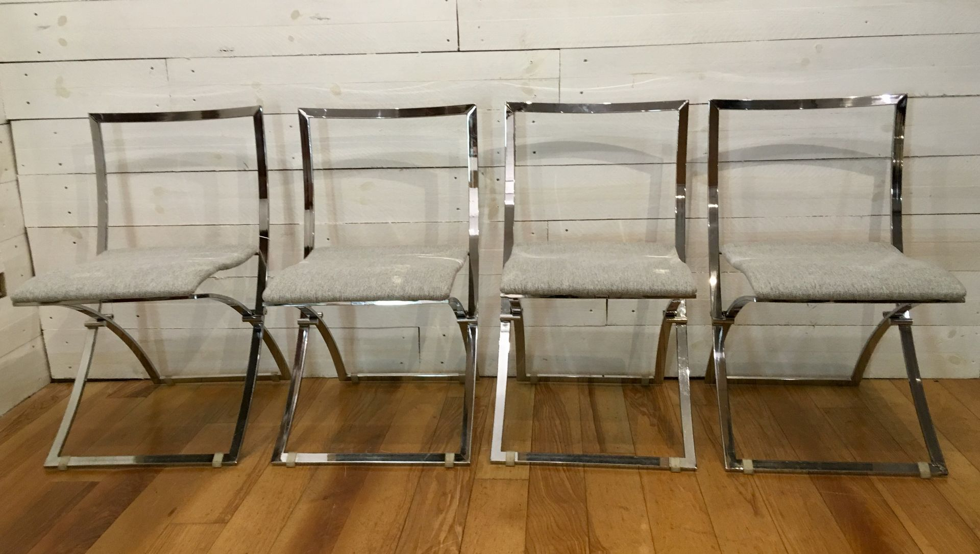 Italia Design Möbel Vintage Luisa Folding Chairs By Marcello Cuneo For Mobel Italia Set Of 4