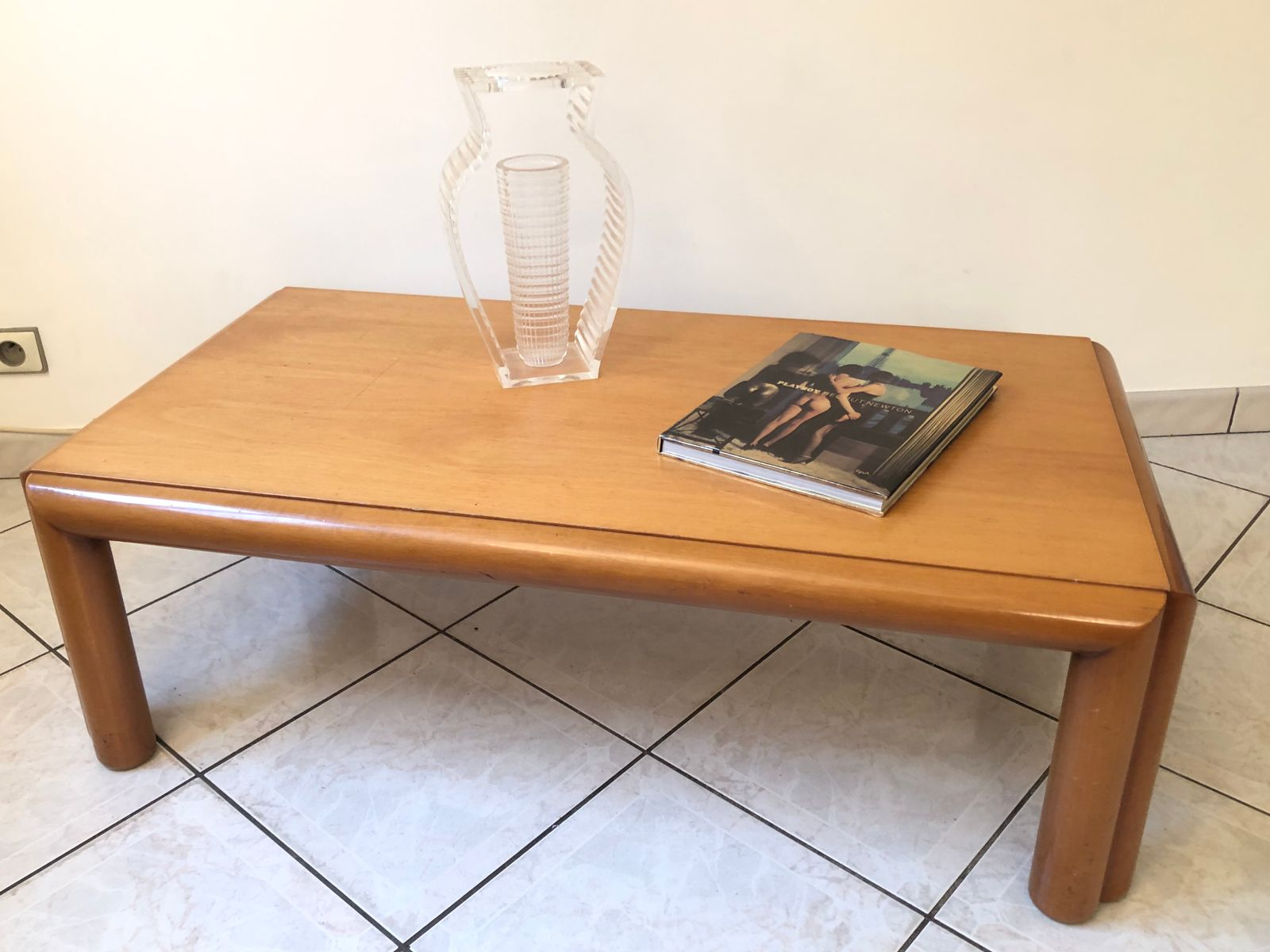 Grande Table Scandinave Grande Table Basse Mid Century Scandinave En Merisier 1960s