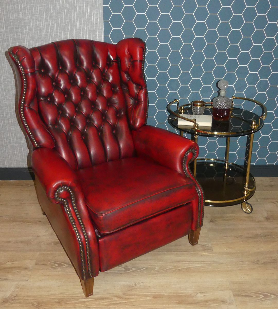 Fauteuils Chesterfield Rouge Fauteuil Inclinable De Style Chesterfield En Cuir Rouge
