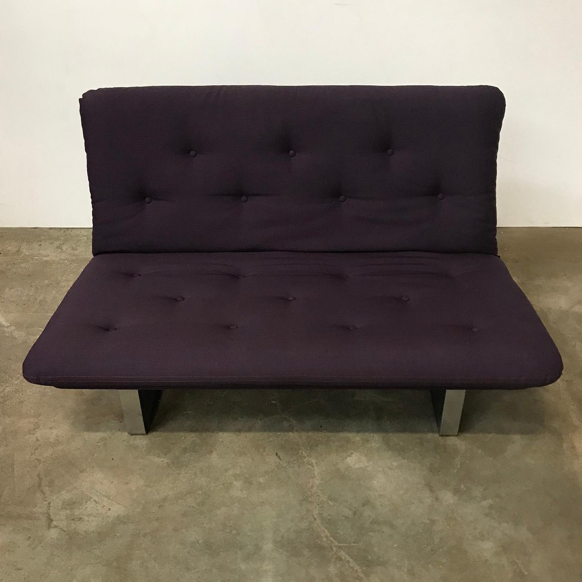 Purple Chrome Two Seater Sofa By Kho Liang Ie Wim Crouwel For Artifort 1968 For Sale At Pamono