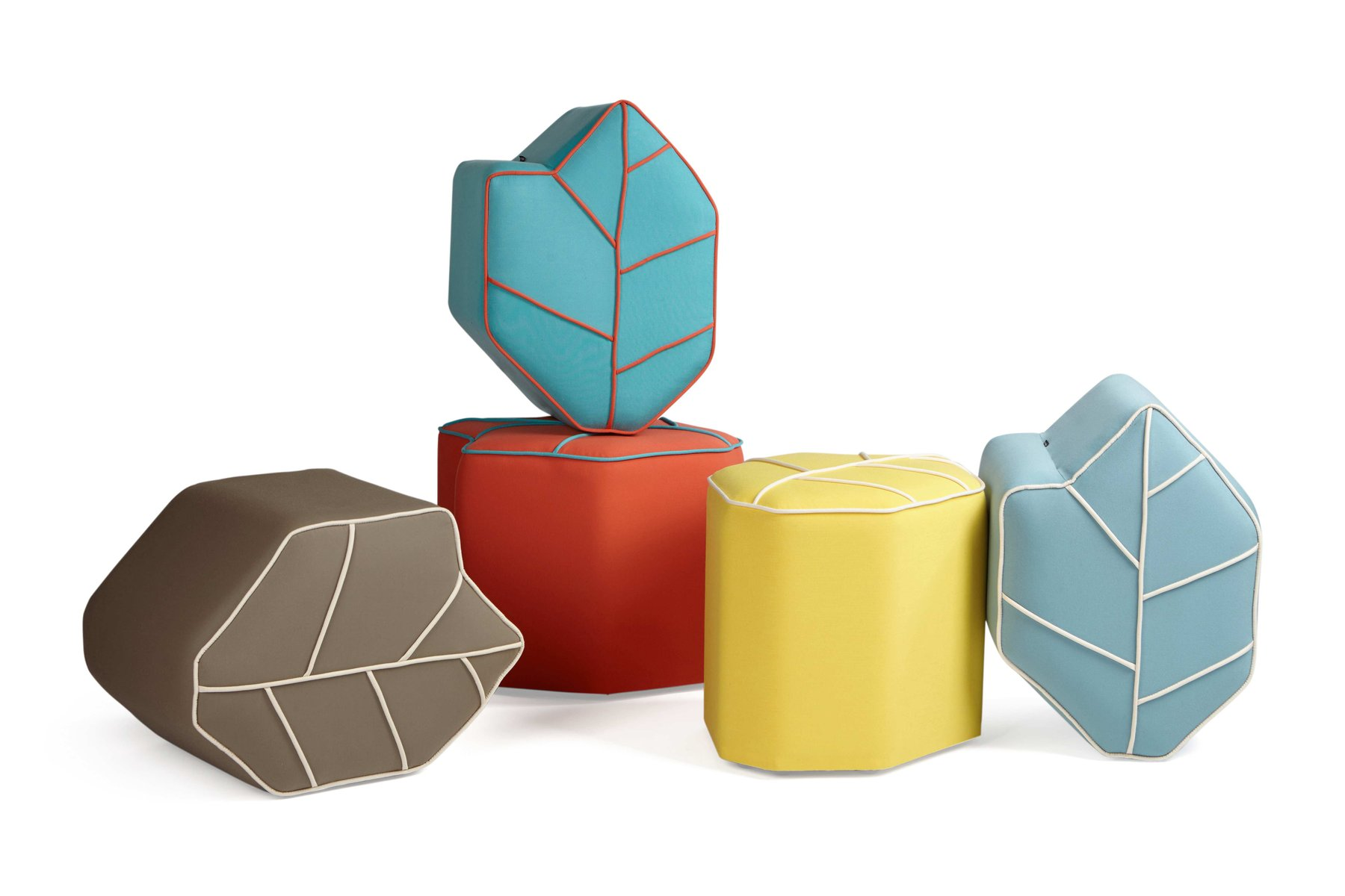 Yellow Outdoor Leaf Seat Pouf By Nicolette De Waart For Design By Nico For Sale At Pamono