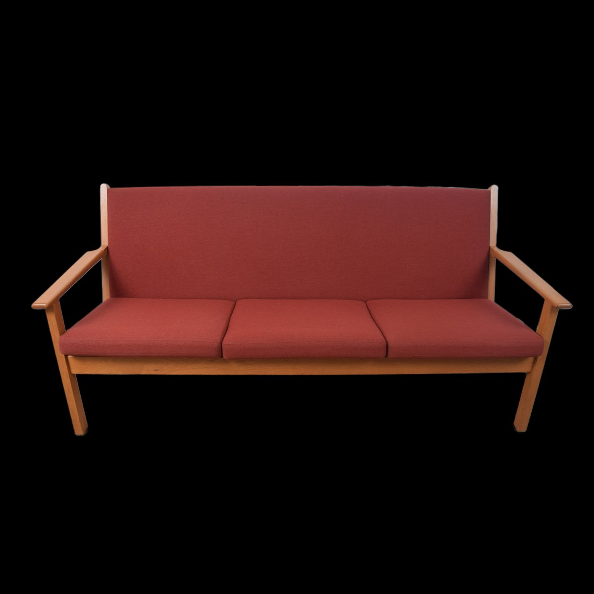 Danish Model Ge 265 3 Seater Sofa By Hans J Wegner For Getama 1960s For Sale At Pamono