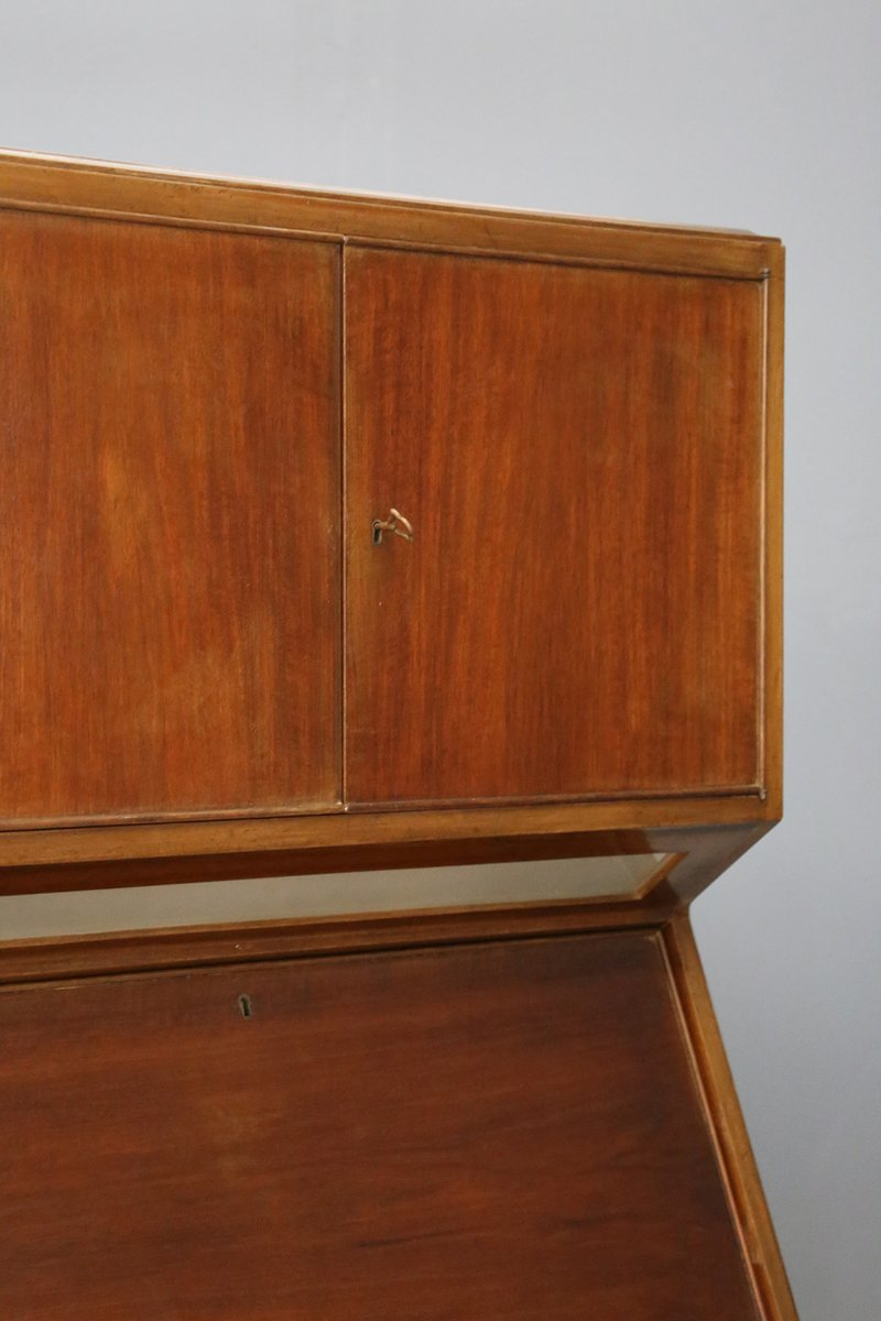 Italian Walnut And Maple Bar Cabinet 1950s For Sale At Pamono