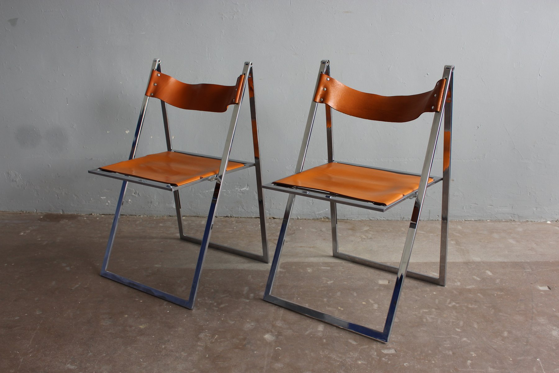 Vintage Folding Chairs By Werksentwurf For Lübke Set Of 2 For Sale At Pamono