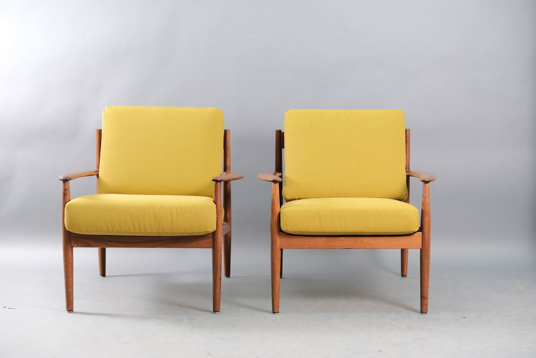 Mid Century Danish Teak Lounge Chairs By Grete Jalk For Cado Set Of 2 For Sale At Pamono