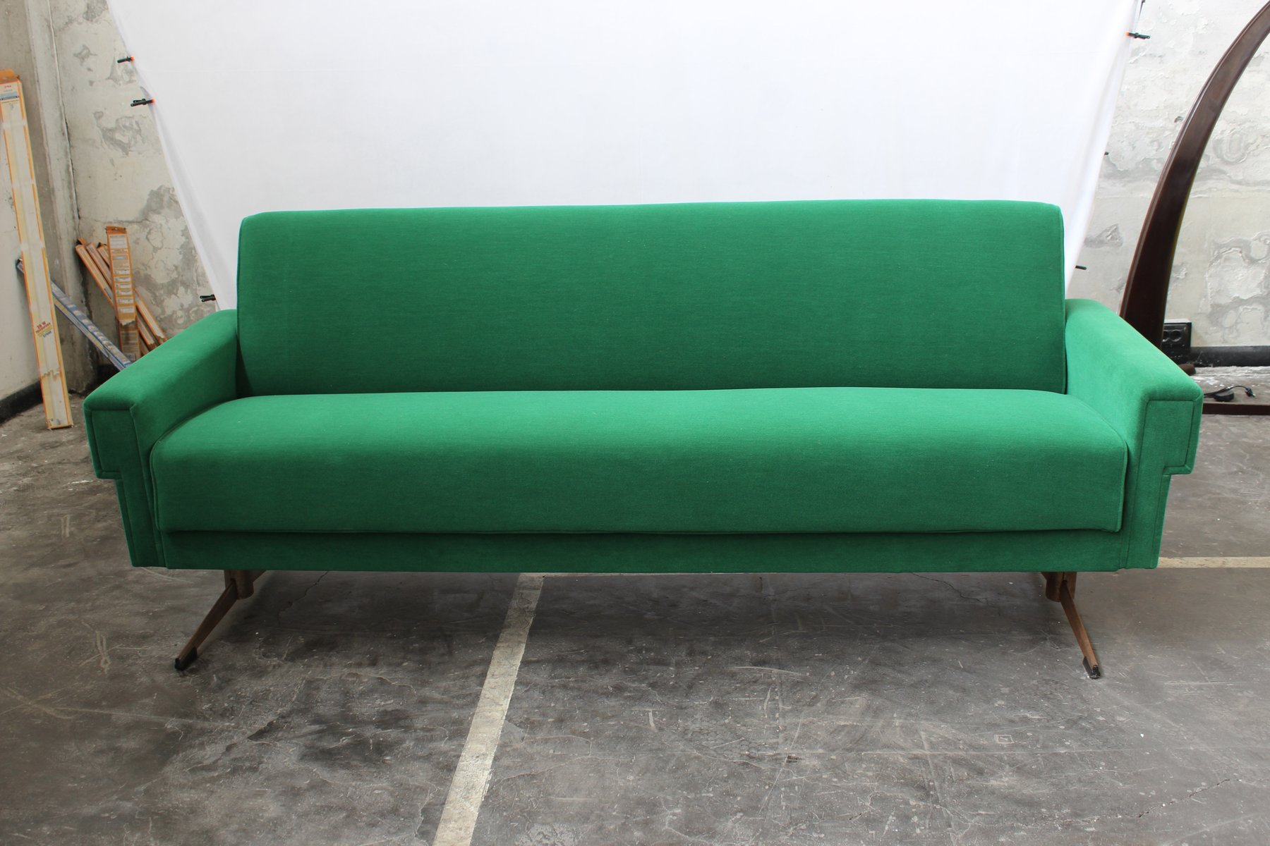 Mid Century Italian Emerald Green Sofa For Sale At Pamono