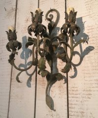 Decorative Painted Metal Wall Sconces, 1940s for sale at ...