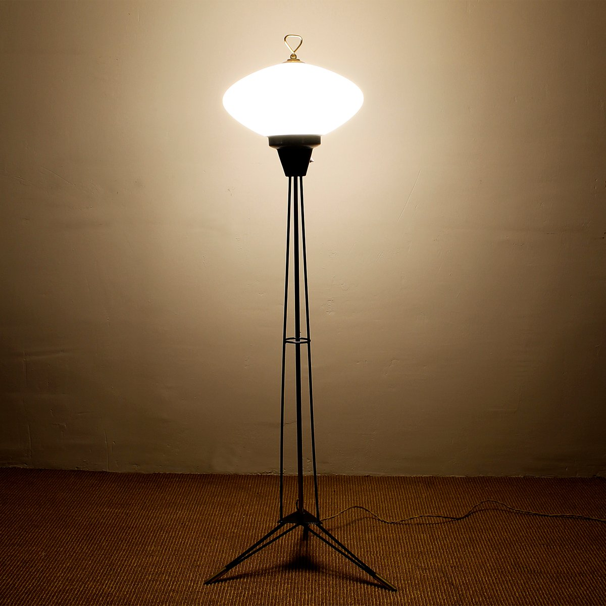 Tripod Floor Lamps Sale Italian Opaline Tripod Floor Lamp 1960s For Sale At Pamono